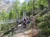 bei der Charles Kuonen Hängebrücke  494 Meter lang