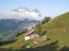 Aeugsten Hütte  1499m mit Glärnischmassiv