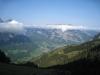 Sicht beim Aufstieg: Vorder Glärnisch und Rautispitz  über den Wolken