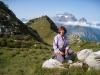 Marianne  vor Schafleger; mit Glärnisch