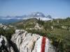 wilde Berglandschaft vo Marianne  vor Schafleger; mit Glärnisch und hi mit Glärnisch