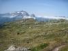 über den Chrummboden, Alpgebiet; vo Schafleger; Bächistock 2914m, Vrenelisgärtli 2903m, Ruchen Glärnisch  2901m, Vorder Glärnisch 2327m