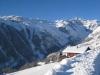 Blick ins Tal hinein auf  die Wannenzwillinge  und das kleine Wannenhorn 3706m