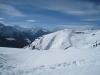 auf dem Winterwanderweg; Fletschhorn, Mischabelguruppe, Matterhorn, Weisshorn