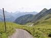 Kirchlispitzen 2522m, Drusenfluh 2827m, Dri Türm 2830m, Sulzfluh 2818m;  Apl Bad und Weg zum Ruchenberg