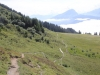 Haldensteiner Calanda; Nebelmeer; Abstieg zur Älplibahn