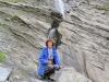 Hochebene  Segnas Sut; Marianne beim Wasserfall