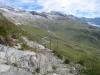 das Drehkreuz unterhalb dem Bälgrat; Hohstock, dahinter Gross Fusshorn, Fusshörner