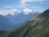 Sicht auf Matterhorn, Weisshorn und Bishorn