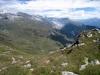 Sicht hinunter auf die Belalp und Aletschgletscher; li Aletschhorn
