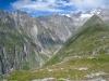 Sicht ins Gredetschtal; Lötschentaler Breithorn, Gredetschhoreli-und Gletscher, Nesthorn, Hofathorn