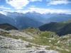 Blick auf Monte Leone, Mischabel, Weisshorn