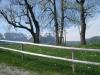 Rast bei Bauernhaus; Maarwees, Altmann,  Ebenalp, Schäfler, Säntis, Öhrli