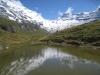 ein namenloses Seelein; Balmhorn 3698m,  Gitzifurggu 2912m, Ferdenrothorn 3180m