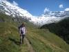 Marianne vor : Balmhorn 3698m,  Gitzifurggu 2912m, Ferdenrothorn 3180m