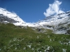Blick hinauf zu Balmhorn 3698m,  Gitzifurggu 2912m