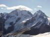 Blick vom Corvatsch: Piz Morteratsch 3751m,Piz Prievlus 3610m  hi Piz Palü 3905m. Piz Bernina 4048m, Piz Scercen 3971m, Piz Roseg 3937m
