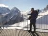 Marianne auf dem Corvatsch 3303m; Piz Bernina und Piz Roseg