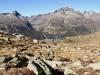 Blick auf Celerina; Piz Polaschin 3013m, Piz Güglia 3192m, Piz Suvretta 3143m, Piz Bever 3229m