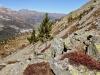ein steiler Hang mit Geröllfeld; Piz Padella, Piz Blaisun, Piz Kesch 3418m
