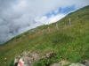 beim Abstieg; ein Stück blauen Himmels