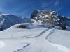der Pfad zum Aussichtspunkt;mGrassen 2946m, Tierberg 2647m, Titlis 3238m, P.2961m