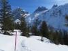 der Schneeschuhtrail mit:  Hinter Schloss 3139m, Pkt 2953m, Schlossbergerlücke 2627m, Gr. Spannort 3198m, Kl. Spannort 3130m