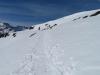 der Schneeschuhtrail mit: hiermjus sich aufsteigen