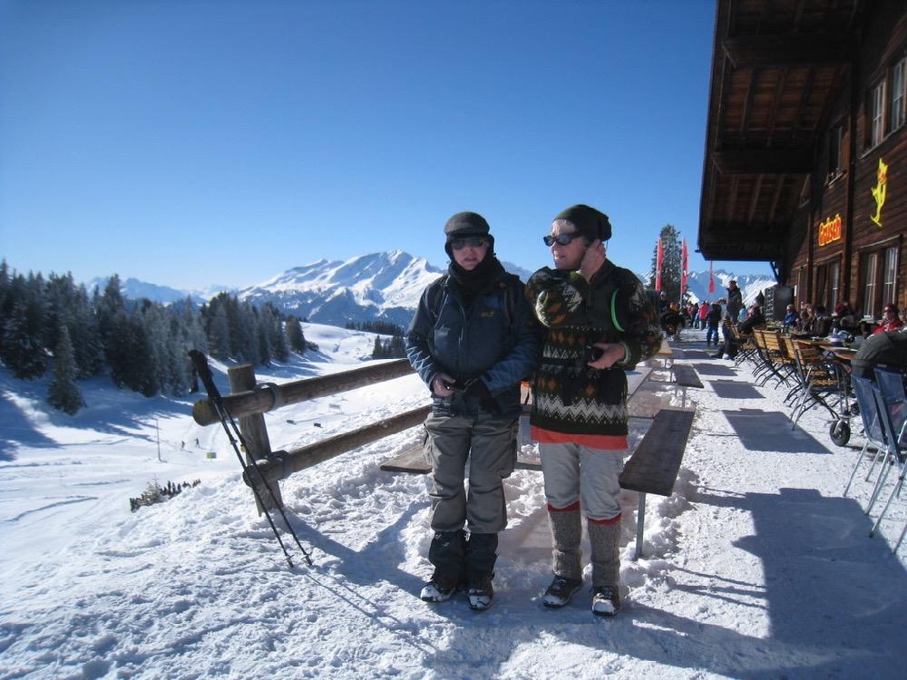 Hanspeter und Brigitte auf der Schwänzelegg 2030m