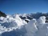 Drusenfluh 2827m, Dri Türm2830m,vo  Schafberg 2456m, Sulzfluh 2817m, Chüenihorn 2413m, Alpbüel  2022m
