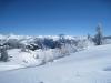 li  u Weisse Oase; Drusenfluh 2827m, Dri Türm2830m,vo  Schafberg 2456m, Sulzfluh 2817m, Chüenihorn 2413m, Alpbüel  2022m, Rätschenhorn 2703m