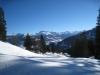 beim Aufstieg nach Scära:  Chüenihorn 2413m, Chrüz 2195m,  Alpbüel 2022m, Rätschenhorn  2703m