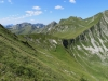 re mi der Morgetenpass 1959m; Gemslflue 2154m, Bürgle 2165m