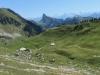 Blick auf  das Stockhorn  2190m; Alp Chessel