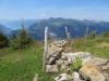 Blick auf den Brienzersee; Wilerhorn 2005m, Brienzer Rothorn 2350m, Höch Gumme 2205m, Arnifirst 2154m, Rossflue 2081m