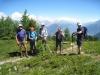 Adrian, Barbara, Herbert, Alex und  Toni  beim Aufstieg zum Gibidum