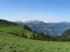 Panorama Palfries: Zanaihorn 2821m, Schwarze Hörner 2645m,  Pizol 2844m, Ringelspitz 3347m, Tristelhorn 3114m, Hangsackgrat 2634m, Trinserhorn 3028m, Piz Sardona 3055m