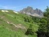 Blick zurück auf unseren Weg; Gauschla 2310m und  Girenspitz 2099m