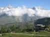 Berghus Grünsee 2300m mit:  Zinalrothorn 4221m,Schalihorn 3975m, Mettelhorn 3406m,Weisshorn 4505m