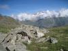 Dent Blanche 4356m.Obergabelhorn 4063m, Wellenkuppe 3003m,Zinalrothorn 4221m, Weisshorn 4505m