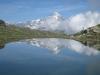 Bergsee 2798m auf  Unter Kelle unterhalb  Rosenritz 2938m; mit Dent Blanche