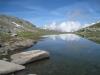 Bergsee 2798m auf  Unter Kelle unterhalb  Rosenritz 2938m mit Dent Blanche