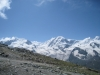 der erste Blick nach Süden auf Monte Rosa 4634m, Lyskamm 4527m, Castor  4228m, Pollux 4092m