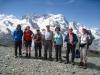 Gruppenfoto vor Breithorn 4165m