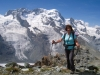Marianne vor : Schwärzegletscher, Breithorngletscher; Breithorn , kl. Matterhorn