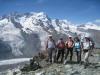Gruppenfoto mit:  Breithorn, kl. Matterhorn; Schwärzegletscher