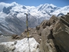 Monterosa, Nordende ,4634m,  Dufourspitze, Parrotspitze 4332m, Ludwigshöhe 4341m, Lyskamm 4527m, Westl. Liskamm 4479m; Gornergletscher, Grenzgletscher