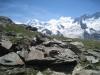 Ausblick beim Abstieg vom Gornergrat; Liskamm
