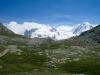 iffelsee 2757m mit  Monterosa, Grenzgletscher und Liskamm