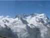 Panorama vom Gornergrat aus: von Monte Rosa bis Theodulhorn